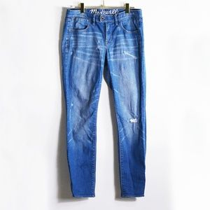 Madewell Distressed Low Rise Straight Leg Jeans 27